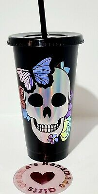 £6 • Buy Personalised Starbucks Style 24oz Cold Cup Frosted Or Black With Straw