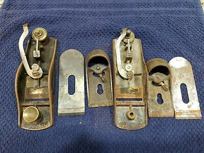 AU13.50 • Buy Vintage Stanley 9 1/4 Block Plane - Lot Of 2 Collectible Woodworking Tool