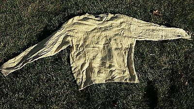 $9.99 • Buy Men's Large Lt. Yellow Silk/Cashmere Mendocino V-Neck Cable-Knit Cricket Sweater