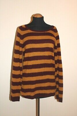£0.99 • Buy N PEAL Beautiful Soft 100% Cashmere Striped Jumper Size L 42'' Chest