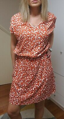 £16 • Buy Captain Tortue French Design Terracotta Dress  Belted Viscose Size 38 (UK10) NEW