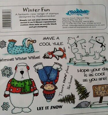 £4.99 • Buy BARGAIN!!! Creative Expressions U-Mount Stamps Set - Winter Fun Designed By...