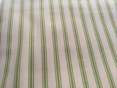 £1.50 • Buy 1.44cm X .30 Butchers Apron Stripe Green Any Crafts Blinds Cushion Fabric Cotton