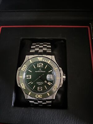 $249 • Buy Jerome Lemars Chagall 45mm Green Dial Swiss Automatic Men's Watch