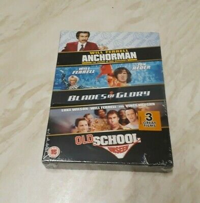 £9.99 • Buy Anchorman / Blades Of Glory / Old School Unseen (DVD Box Set) Brand New Sealed