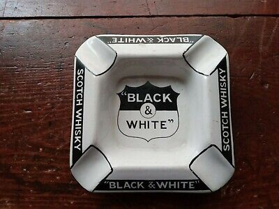£20 • Buy Early Black And White Whisky Advertising Ashtray 1930s.