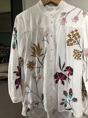 $ CDN9.59 • Buy Anthropologie Embroidered Shirt XS