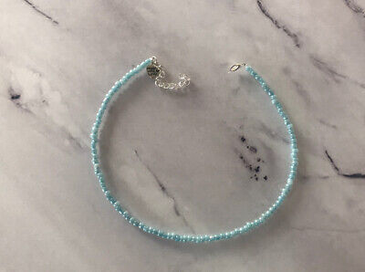 £2.85 • Buy Blue Pearl Choker Necklace Seed Beads Summer