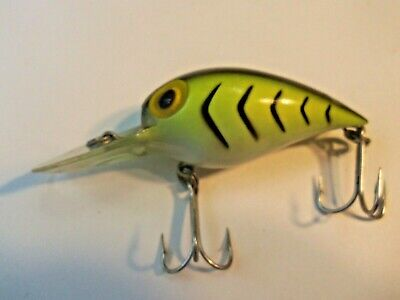 $9.99 • Buy Storm Magnum Wiggle Wart Lure Pre Rapala Yellow Black Ribs