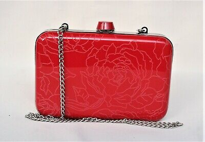 AU20 • Buy Classic OROTON Red Floral HARD Case Box CLUTCH
