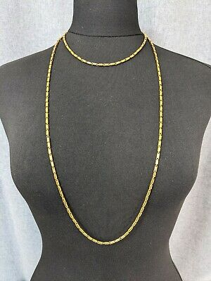 £57 • Buy Beautiful Vintage Gold-tone Shiny Long Link Necklace By Trifari Jewellery