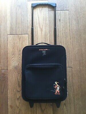 """£20 • Buy Disney Store Tigger """" Striped Trouble - That's Me!"""" Black Carry On Suitcase"""
