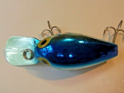 $9.99 • Buy Storm Magnum Wiggle Wart Lure Pre- Rapala Blue Back & Ribs Silver Metallic EX