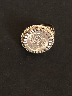 £105 • Buy 9ct Gold St George Ring 3.2 Grams