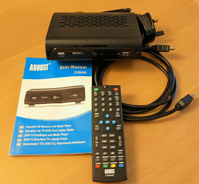 £15 • Buy August DVB400 HD Freeview Set Top Box 1080p TV Recorder Multimedia Player