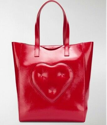 £120 • Buy BNWT Anya Hindmarch Chubby Heart Red Patent Leather Tote