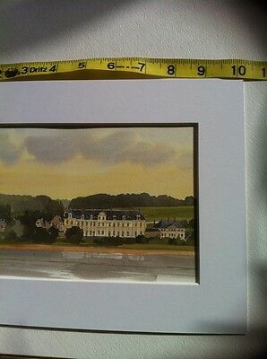 $17.99 • Buy Watercolor Country Manor House Art Print Pottery Barn Style Magnolia Pierre Deux