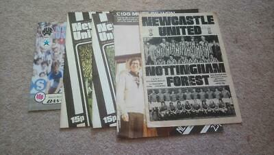 £1 • Buy Collection Of 5 1974-1984 Newcastle United Programmes