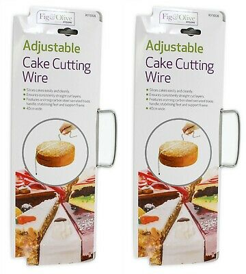 £5.49 • Buy 2 X Cake Cutter Slicer Line Bread Wire Cutting Leveler Decorating Baking Tool
