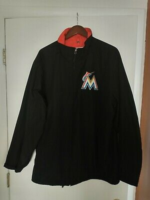 $40 • Buy Majestic Authentic Collection Men's Miami Marlins MLB Full Zip Jacket-XL