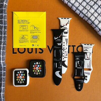 AU29.95 • Buy 3 In 1: Silicone Sports Watch Band/Protector Screen/Case For Nike+ Apple Watch