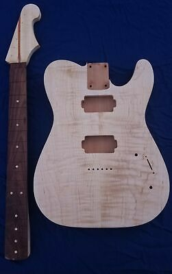$250 • Buy Unfinished Telecaster Body And Stratocaster Neck (Flame Maple, Maple, Mahogany)