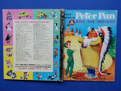 £8.46 • Buy A LITTLE GOLDEN BOOK - PETER PAN And The INDIANS - 1953 - VINTAGE HC **FREE POST