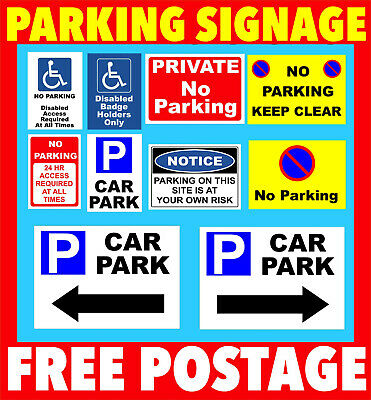 £1.99 • Buy No Parking Sign  Plastic Sign Or Sticker, - Private, Driveway, Disabled
