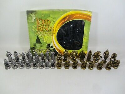 £25.99 • Buy The Lord Of The Rings Fellowship Of The Ring Pewter & Bronze Effect Chess Set