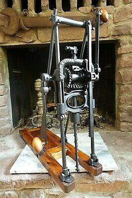 $405 • Buy Antique MILLERS FALLS BARN AUGER BORING MACHINE DRILL PRESS Maritime Timber