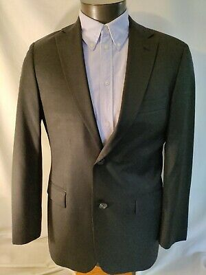 $189.99 • Buy Hugo Boss Charcoal Gray Pasolini Movie 100% Wool Two Button Suit Jacket 38R Mint