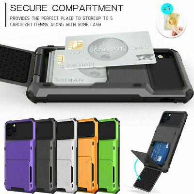 AU8.07 • Buy Shockproof Card Holder Slot Phone Case For IPhone 11 12 Pro Max XS X XR 8 7 6 SE