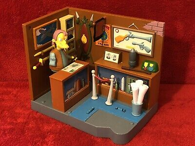 $25 • Buy Playmates Simpsons MILITARY ANTIQUE SHOP W/Herman Figure WOS Interactive Playset