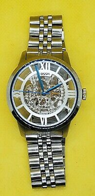 $5 • Buy Fossil Skeleton 20 Jewels Mens Automatic Watch - Possible Parts Or Repair