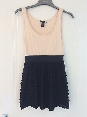 £2.99 • Buy H&M Dress Size Small Two Tone Black Nude
