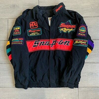 $ CDN169.21 • Buy Vintage 1990s Snap-On Racing Jacket Embroidered Patches Large Black