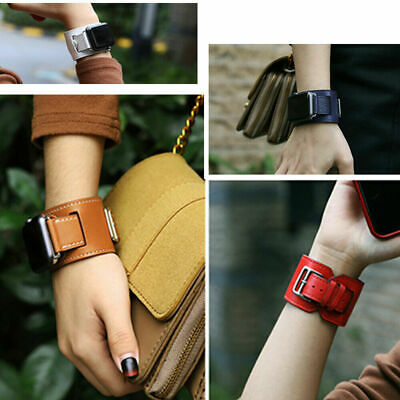$ CDN27.55 • Buy Leather Watch Band Straps Bracelet Cuff For Apple Watch Series 6 5 4 3 2 1 SE