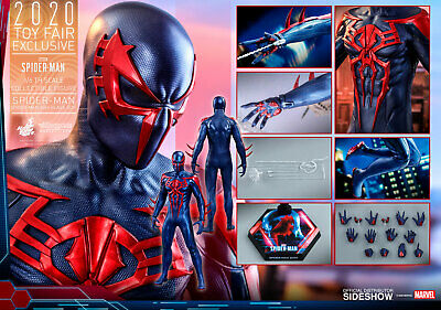 $ CDN365 • Buy Hot Toys Sideshow Exclusive VGM42 Spiderman Spider-Man 2099 Black Suit SHIPPER