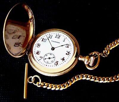 £2.34 • Buy Antique 2 Plate Solid Gold Hunter Case Pocket Watch Waltham With Certificate