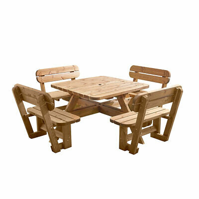 £657.46 • Buy Anchor Fast 8 Seater Pine Wood Picnic Bench Garden Seating