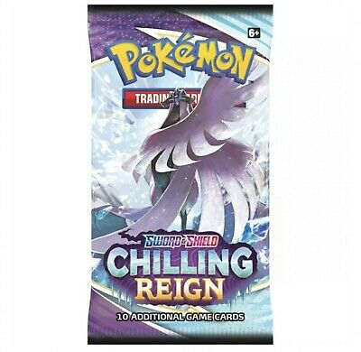 AU7.50 • Buy Pokemon TCG Sword & Shield Chilling Reign Booster Pack NEW (ONE PACK SINGLE X1)