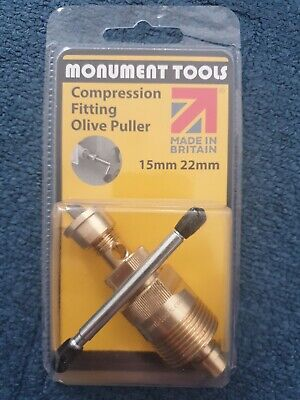 £22.80 • Buy Olive Puller Removal Plumbers Tool 15mm And 22mm - Monument Tools