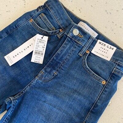 £20 • Buy Womens/Ladies Topshop Jamie Flare High Waisted Stretch Jeans
