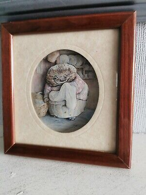 £14.99 • Buy Decoupage Beatrix Potter Framed Picture By Living Pictures Mrs Tiggywinkles