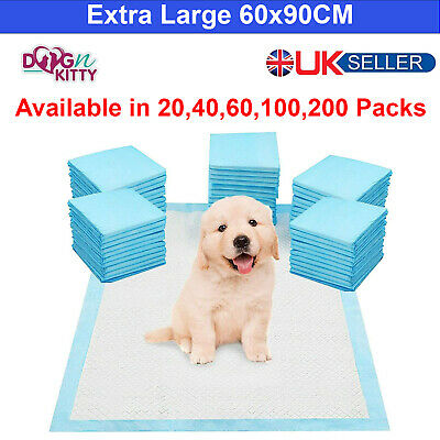 £11.49 • Buy EXTRA LARGE HEAVY DUTY DOG PUPPY TRAINING WEE PADS FLOOR TOILET MATS 60 X 90cm