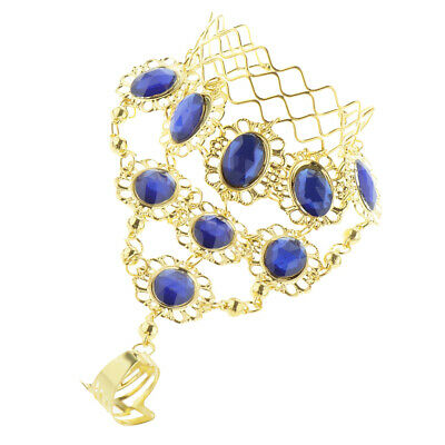 £4.37 • Buy Belly Dancing Bracelet With Finger Ring Indian Dance Fashion Jewelry Blue