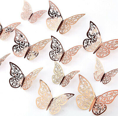 AU6.95 • Buy 24Pcs 3D DIY Wall Decal Stickers Butterfly Home Room Art Decor Decorations AU
