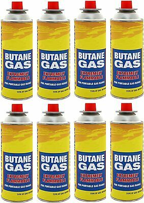 £12.99 • Buy 8 X Butane Gas Bottles Canisters For Portable Stoves Cookers Heaters Weed Burner