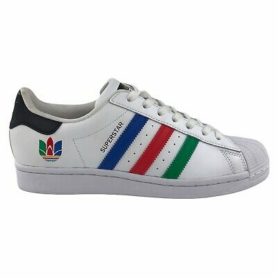 AU85 • Buy Adidas Superstar Mens Shoes Size US 8 UK 7.5 | White Green Black Sneakers