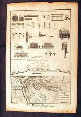 £73.09 • Buy Rare 18th Century 1762 French Engraving Art Of Military Fortification
